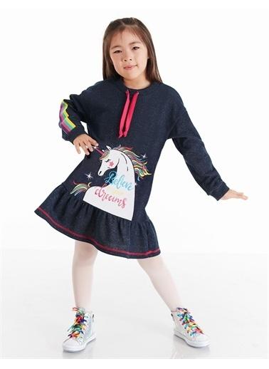 Mushi Believe Unicorn Kız Elbise Lacivert